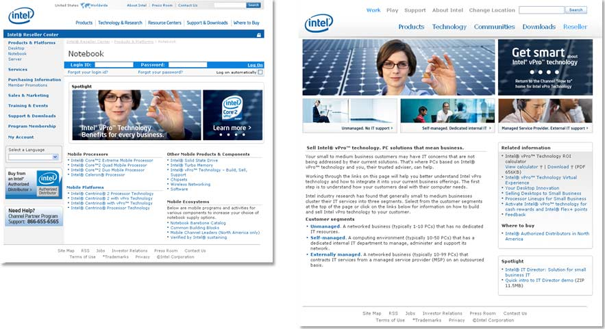 Intel: Channel to Page