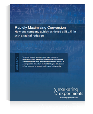 Rapidly Maximizing Conversion