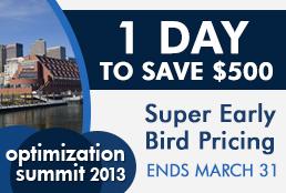 Optimization Summit Super Early Bird – 1 Day Left