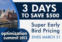 Optimization Summit Super Early Bird – 3 Days Left