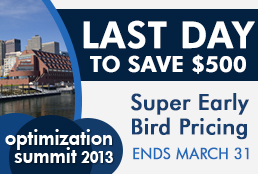 Optimization Summit Super Early Bird – Last Day