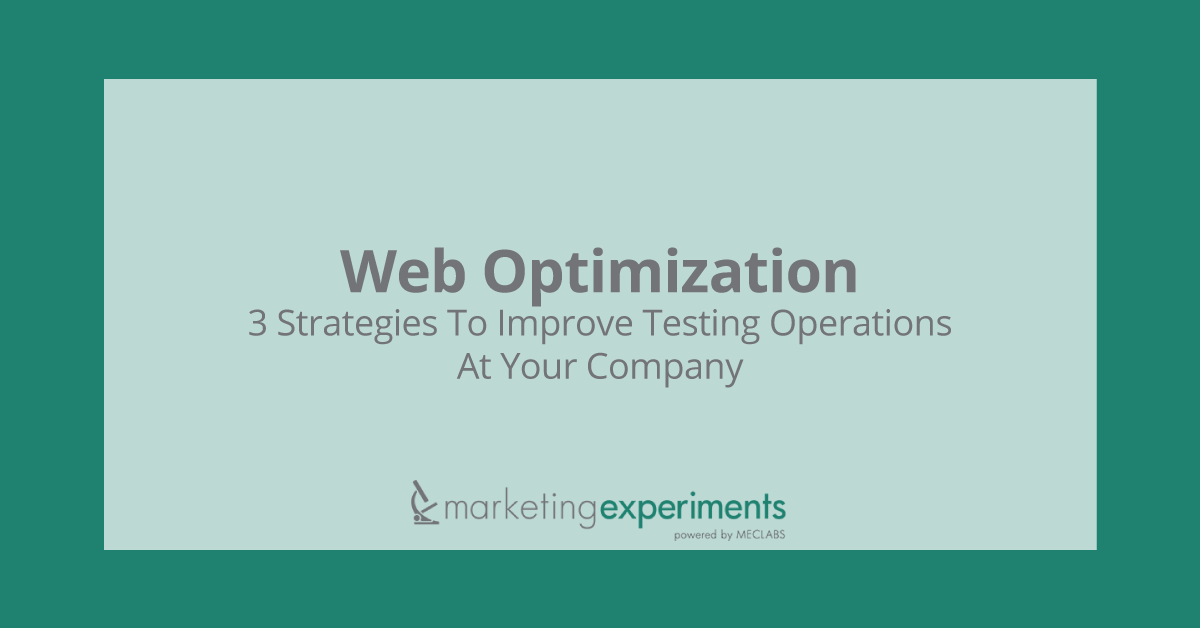 Web Optimization - MarketingExperiments