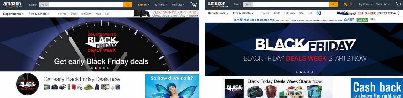 Amazon Black Friday Landing Page Marketingexperiments